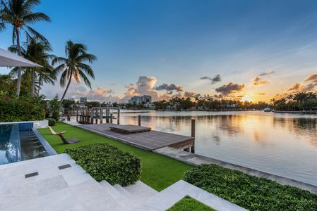 waterfront mansion on Lower North Bay Road in Miami Beach listed with Nelson Gonzalez