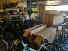 Maui electric bike rental garage on delivery day!