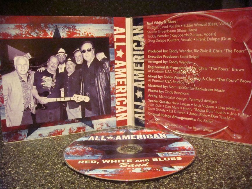 The Red White & Blues first cd