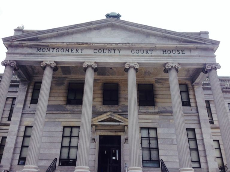 Montgomery County Courthouse front steps photograph