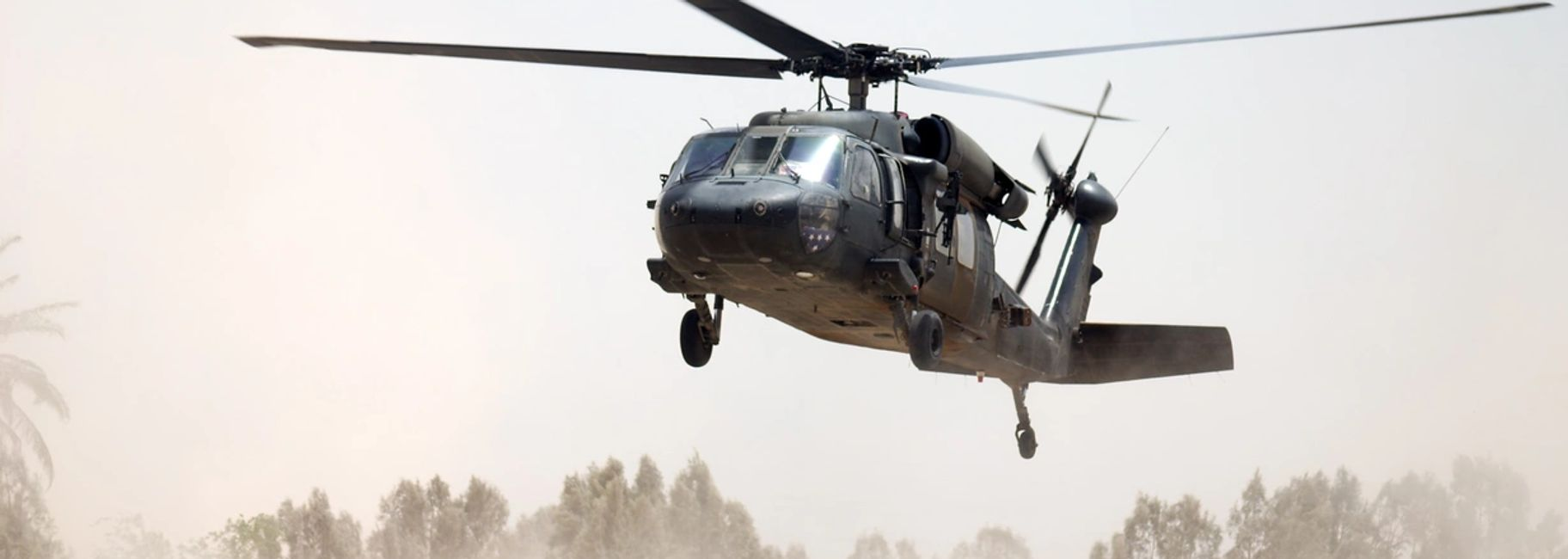 Blackhawk helicopter in Iraq.