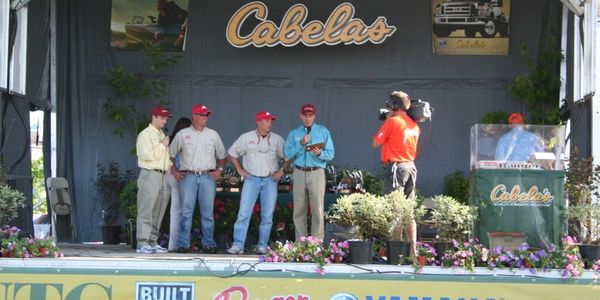 Brad Qualley, Mitch Petersen at the Cabelas NTC Walleye tournament at Greenbay, Wisconsin