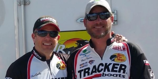 Brad Qualley and Mitch Petersen professional Walleye anglers at a Colorado Walleye Tournament