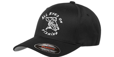all eyes on fishing logo attire flex fit hat