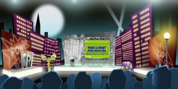 Live franchisee corporate event live superhero battles and theme park tie-in to creative production.