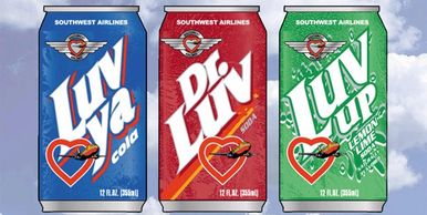 Private label CSD design concept for new business pitch international airline soft drink initiative.