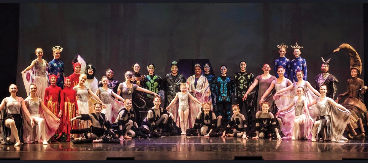 Cast photo of The Dark Fairy performed in 2019.