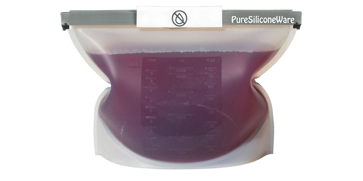 PureSiliconeware silicone food pouch