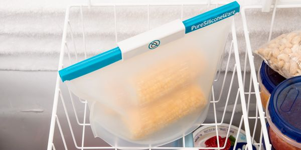 PureSiliconeWare silicone bag used for storage in the freezer