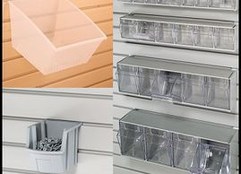 HandiWALL Selection of Storage Bins