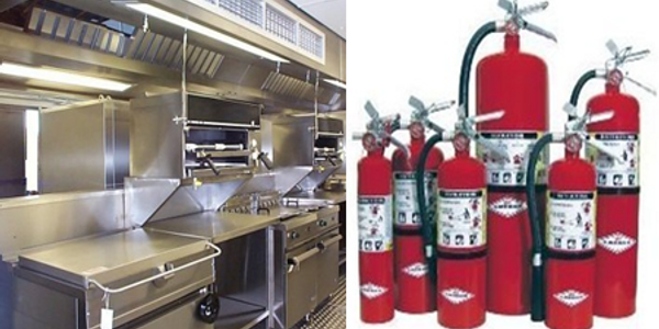 Kitchen hood systems and fire extinguishers in Lafayette, La fire and safety