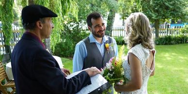 Tucker House Inn San Juan Island weddings, Didier Gincig wedding officiant