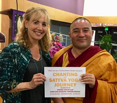 Denise led a Sattva Yoga Journey & Chanting with the Drepung Gomang Tibetan Monks in the U.S.