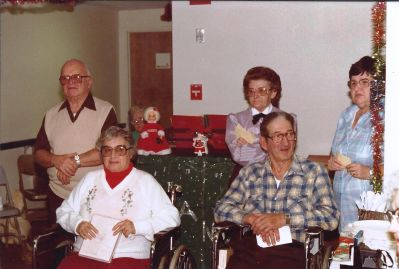 Meals on Wheels, Christmas, Senior Dining, 1970's, Wheel Chair, lunch