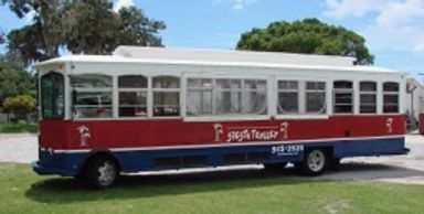 34 passenger trolley open-air style
