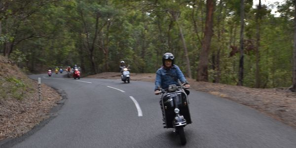 Vespa Club Brisbane - riders at MT Gravatt lookout.