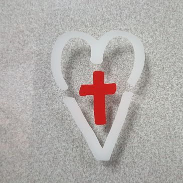 This symbol was created after Cal's passing  Encouraging people to put on window above door handle