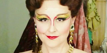 Rebecca as Carlotta in The Phantom of The Opera.