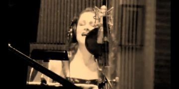 "Rebecca recording ""As Long As I Have You"" at Sound Imagination Studios."