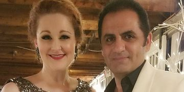 Rebecca with tenor, Yeghishe Manucharyan at the Maudslay Arts Center in Newburyport, MA.