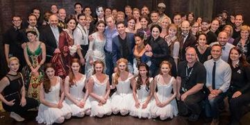 The Phantom of The Opera cast photo with Lord Andrew Lloyd Webber at The Kennedy Center.