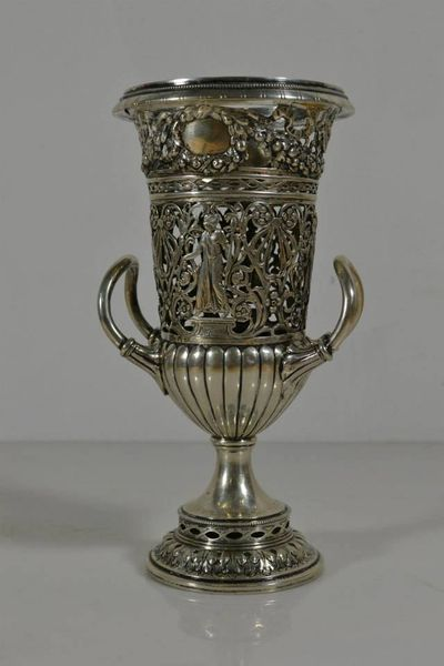 Antique Reticulated Silver Urn Sold by Antyke.