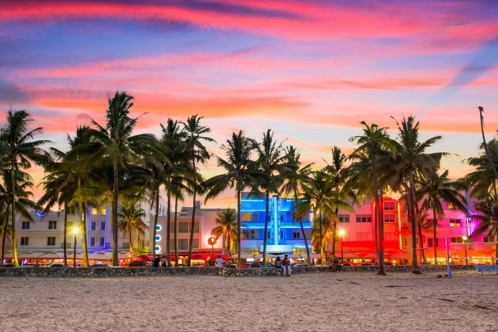 Miami Florida Ocean Drive & South Florida areas charter bus rentals transportation Company ATC Buses