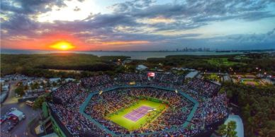 Sporting event shuttle transportation service for groups in Miami Florida Tennis Open Federer Nadal