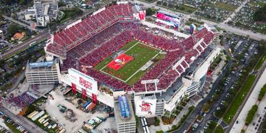 Charter Bus Rental Transportation for events in Tampa Florida Buccaneers NFL Raymond James Stadium
