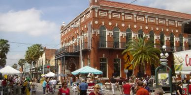 Ybor City Tampa Florida charter bus tours for traveling passengers and guests through the west coast