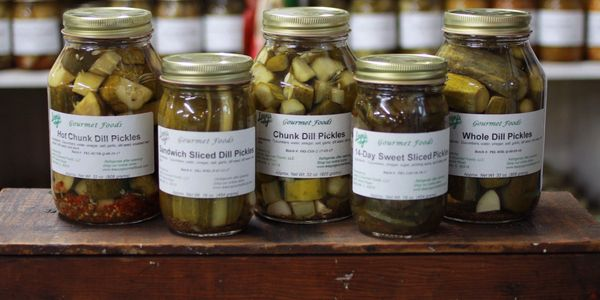Picture of dill pickles
