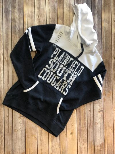 Plainfield South cougars glitter paw hoodie