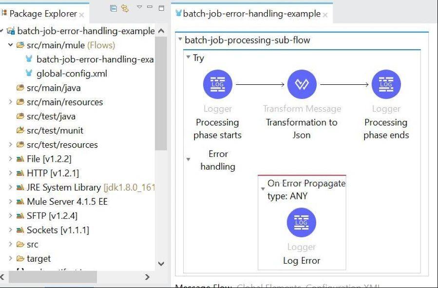 Error Handling of Batch Jobs in Mule 4