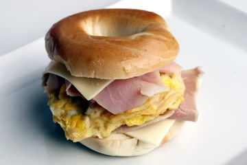 Ham egg cheese bagel