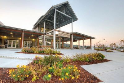 The new LEED-green certified Event Center boasts over 45,000 square feet.
