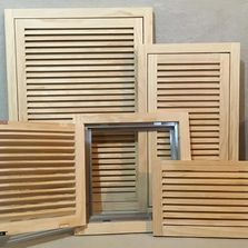 Wood Return Air Filter Grilles and Wood Air Vents