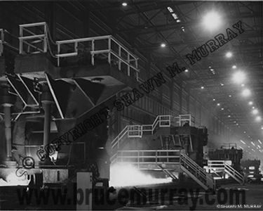 Steel Mill roller plant photograph by Bruce Murray, Jr. ca. 1960