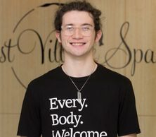 Trevor Grefe, (he/him) licensed massage therapist at East Village Spa in Des Moines, IA