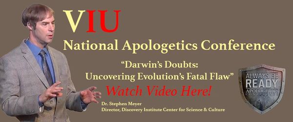 Stephen Meyer Darwin's Doubts Lecture at Veritas International University