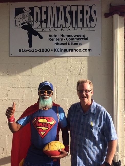 Local KC Superman Michael Wheeler and TomDeMasters