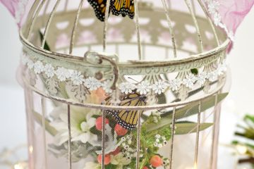 Vintage cage release for monarch butterflies