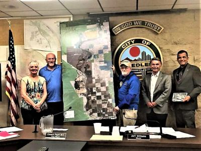 LEDC presents map of Tri-State area to City of Needles