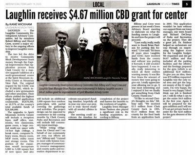 Laughlin Nevada Times Article 2-21-20