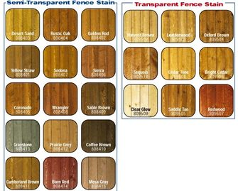 Just a few of our Fence Stain color options. More and custom colors available!