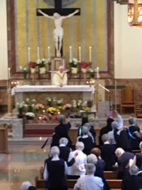 Easter Mass was celebrated in the Chapel at Camilla Hall.