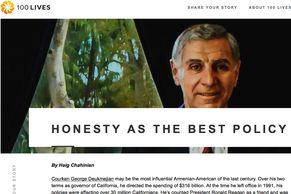 100 Lives: Profile of George Deukmejian Honesty as the Best Policy