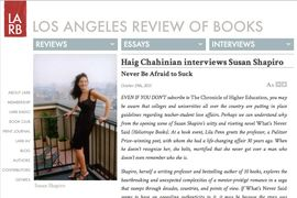 Los Angeles Review of Books Haig Chahinian Interviews Susan Shapiro
