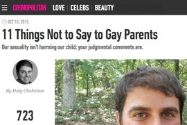 Cosmopolitan Magazine 11 Things Not to Say to Gay Parents