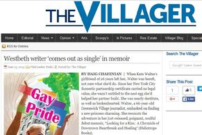 The Villager Westbeth writer 'comes out as single' in memoir