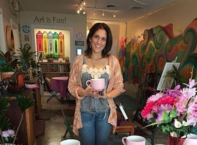 Miss Dee welcomes you to our Colorful Cheerful Art Studio!